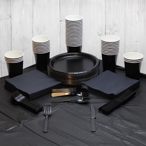 Black 54 Person Party Pack