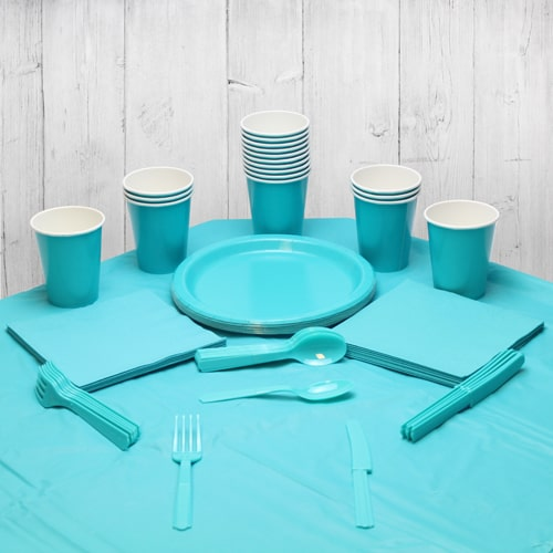 Caribbean Teal 18 Person Party Pack