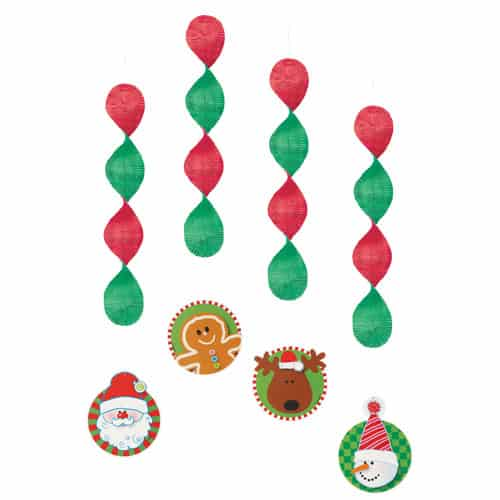 Christmas Hanging Decoration - Pack of 4