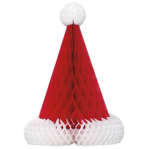 Christmas Santa Hat Honeycomb Decoration - 30cm