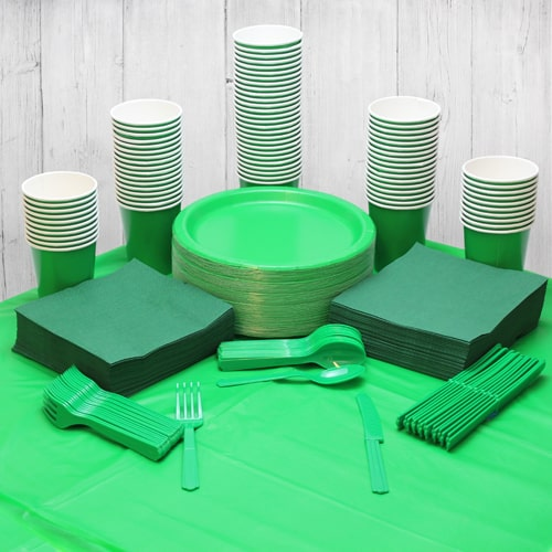 Emerald Green 90 Person Party Pack