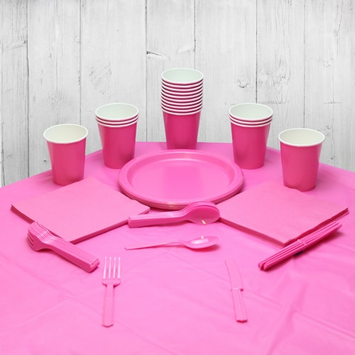 Hot Pink 18 Person Party Pack