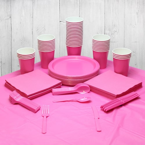 Hot Pink 54 Person Party Pack