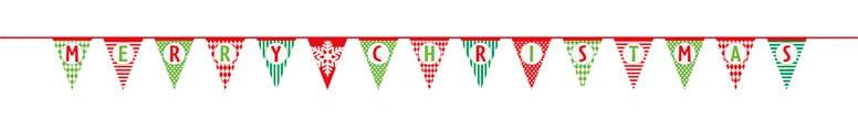 Merry Christmas Paper Flag Banner - 426cm