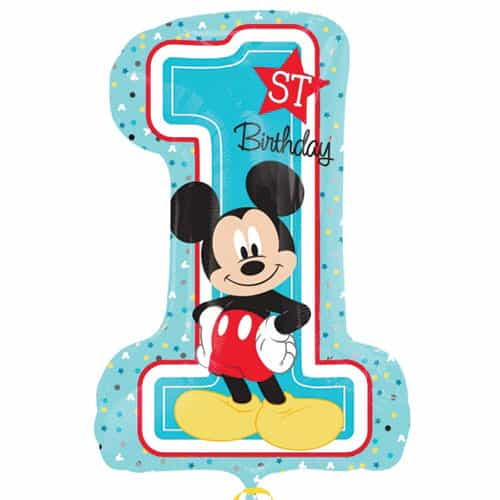 Mickey Mouse 1st Birthday Helium Foil Giant Balloon 71cm / 28 in