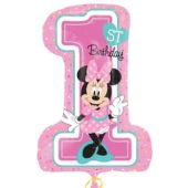 Minnie Mouse 1st Birthday Supershape Foil Helium Balloon 71cm / 28Inch
