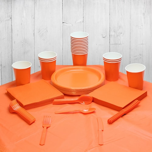 Orange 18 Person Party Pack
