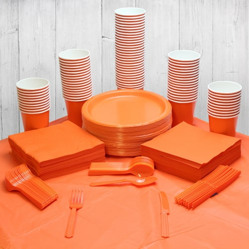 Orange 90 Person Party Pack