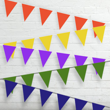 Plain Colour Bunting Category Image
