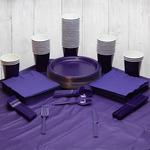 Purple 54 Person Party Pack