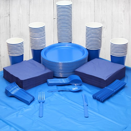 Royal Blue 90 Person Party Pack
