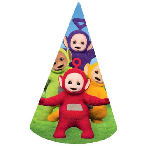 teletubbies-cone-party-hats-pack-of-8-product- ebf21a5dc53b