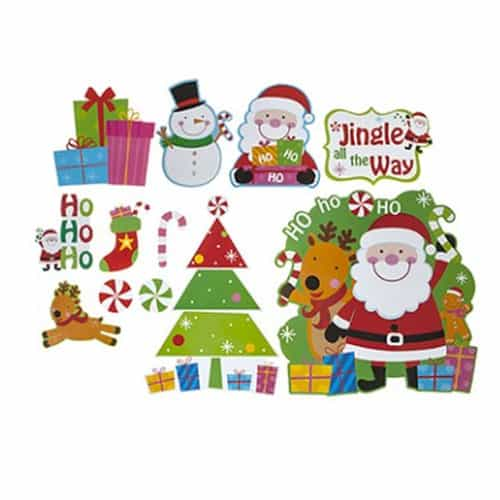 Christmas Designs.Christmas Wall Decoration Kit Assorted Designs Pack Of 12