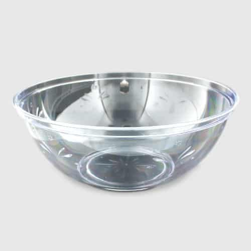 Clear Plastic Serving Bowl - 30cm