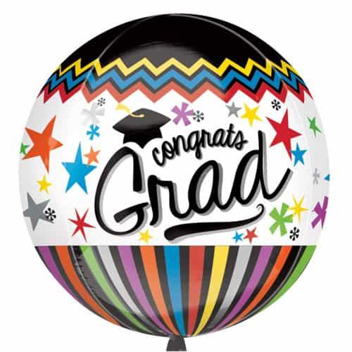 Congrats Grad Orbz Foil Helium Balloon 38cm / 15Inch