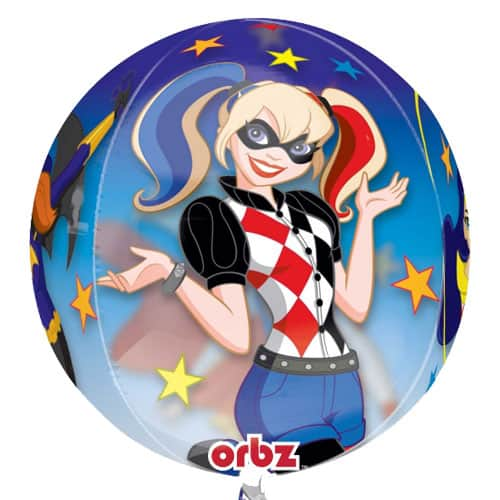 DC Super Hero Girls Orbz Clear Balloon 38cm / 15 in