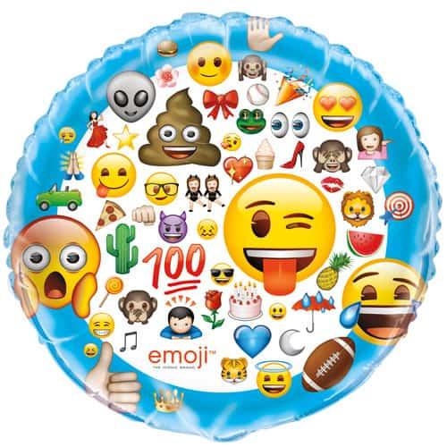 Emoji Helium Foil Giant Balloon 86cm / 34 in