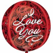 I Love You Roses Orbz Foil Helium Balloon 38cm / 15Inch