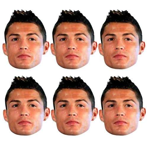 Ronaldo Cardboard Face Masks - Pack of 6