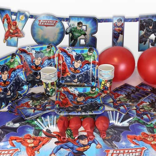 Justice League 16 Person Delux Party Pack