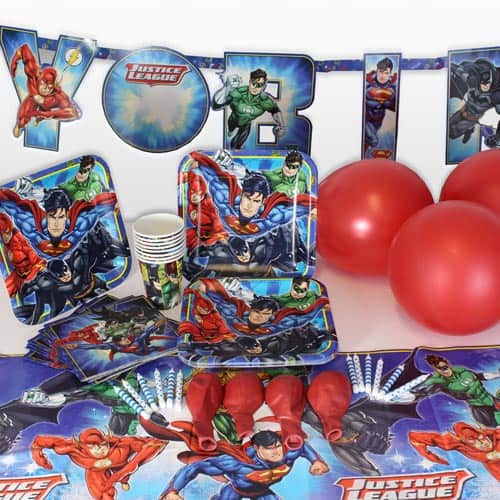 Justice League 8 Person Delux Party Pack