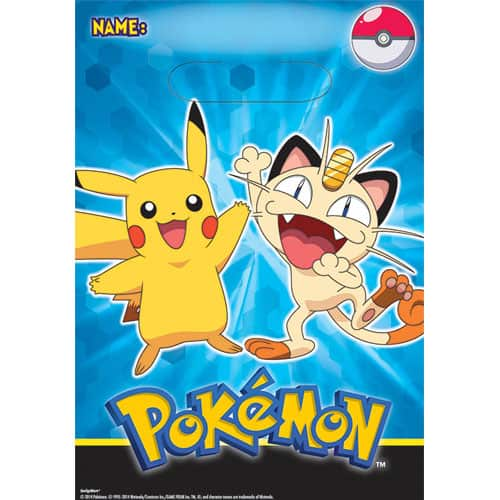 Loot Bags 1st Birthday Boys Balloons 8 Pk: Pokemon Pikachu And Friends Party Loot Bags