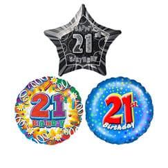 21st Birthday Balloons | Partyrama co uk