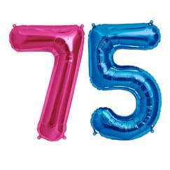 75th Birthday Balloons