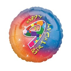 9th Birthday Balloons