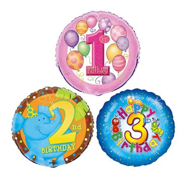Children's Age Balloons