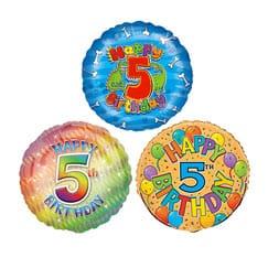 5th Birthday Balloons Partyrama