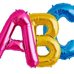 Giant Letter Balloons Category Image