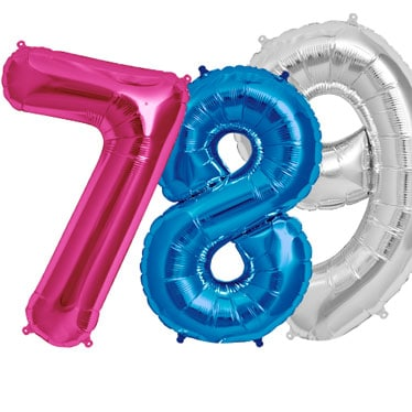 Giant Number Balloons Category Image
