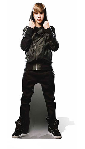 Justin Bieber My World Lifesize Cardboard Cutout - 176cm Product Gallery Image