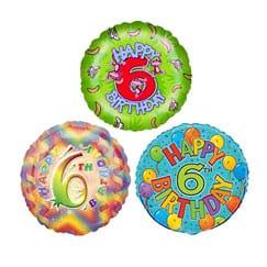 6th Birthday Balloons