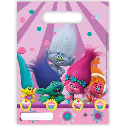 Trolls Party Loot Bags - Pack of 6