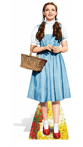 Wizard Of Oz Dorothy Lifesize Cardboard Cutout - 148cm Product Gallery Image
