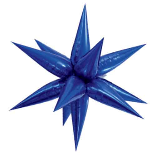 Blue 3D Star Foil Balloon 70cm / 28Inch
