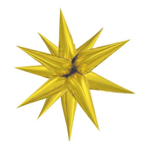 Gold 3D Star Foil Balloon 100cm / 39Inch Product Image