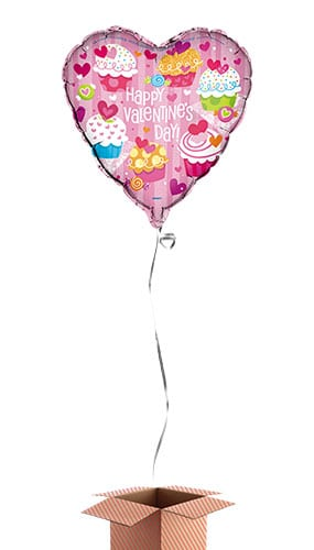 happy-valentines-day-cupcake-heart-shape-46cm-foil-balloon-in-a-box-pack-of-2-image