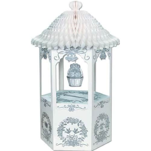 Honeycomb Bell Top Wishing Well Wedding Card and Money Box -72cm