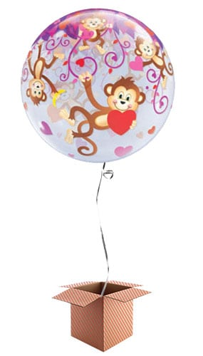 love-monkeys-56cm-bubble-balloon-in-a-box-image