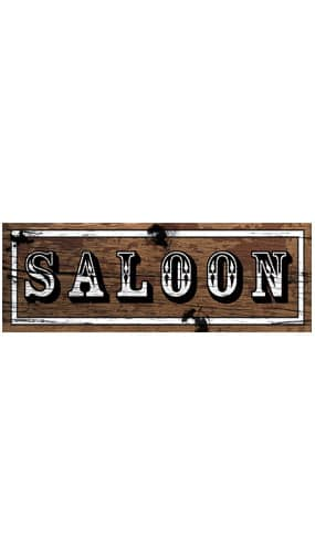 Saloon Sign Decoration - 55cm