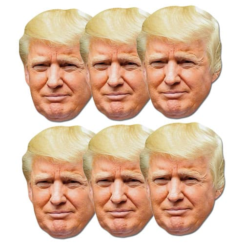 President Donald Trump Face Mask - Pack of 6