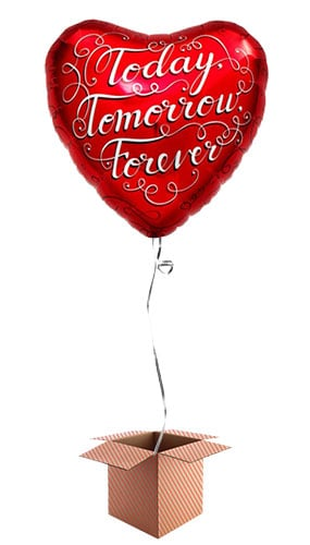 today-tomorrow-forever-heart-46cm-foil-balloon-in-a-box-image