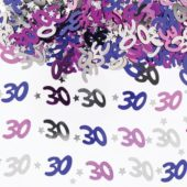 30th Birthday Pink Table Confetti 14 Grams