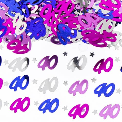 40th Birthday Pink Table Confetti - 14 Grams