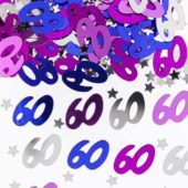 60th Birthday Pink Table Confetti – 14 Grams