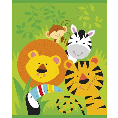 Animal Jungle Loot Bags - Pack of 8 Product Image