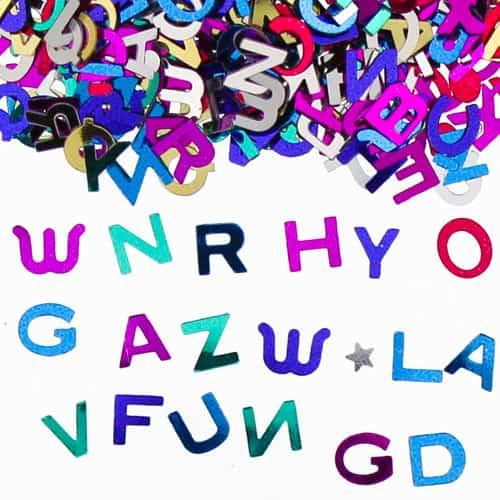 Assorted Letters Multi Colour Table Confetti - 14 Grams